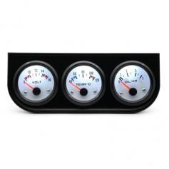 Triple Gauge Kit Electric Voltmeter Water Temperature Oil Pressure for Gasoline Modified Car Models