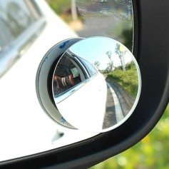 2pcs Car Adjustable 360 Wide Convex Wide Angle Side Round Rear View Mirror Blind Spot Lens