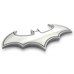 Metal 3D Car Sticker Decoration Bat Shape Pattern
