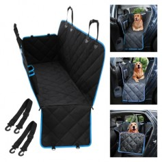 Dog Car Seat Cover Rear Seat Mat with Mesh Viewing Window