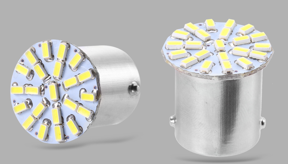 Pair of 1156 3014 Wedge LED 22 SMD Light Car Auto Tail Parking Lamp Bulb