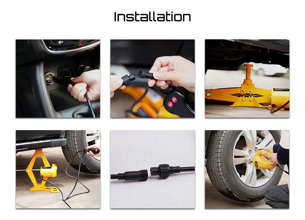 12V Multifunctional Auto Electric Hydraulic Jack Car Lift Tire Repair Tool