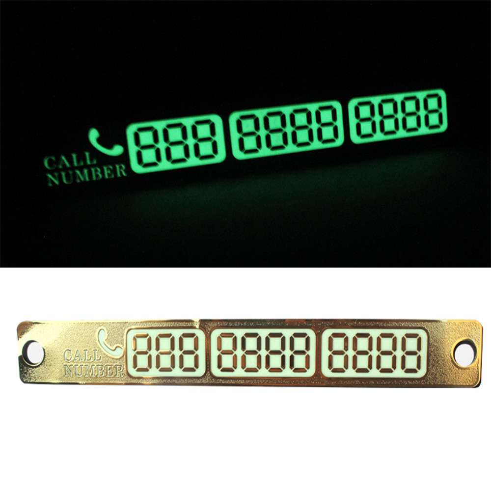 Temporary Parking Car Phone Number Shift Luminous Automobile Super Quality
